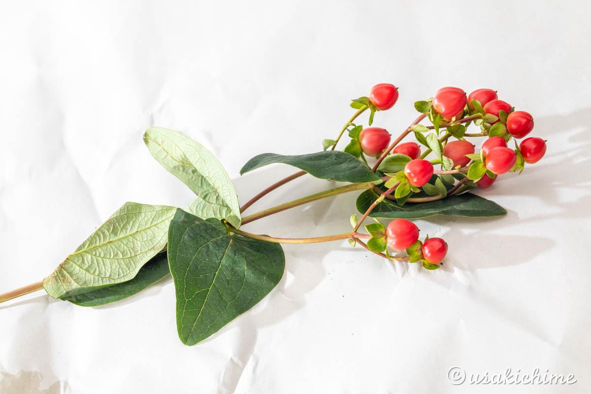 お花を生けるまでの作業