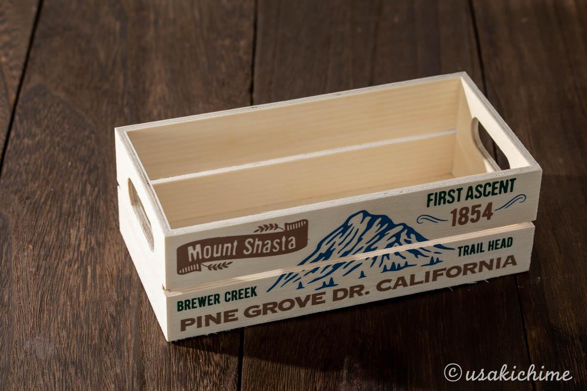 100円ショップワッツで購入したお花グッズ「木製BOX CG-863」