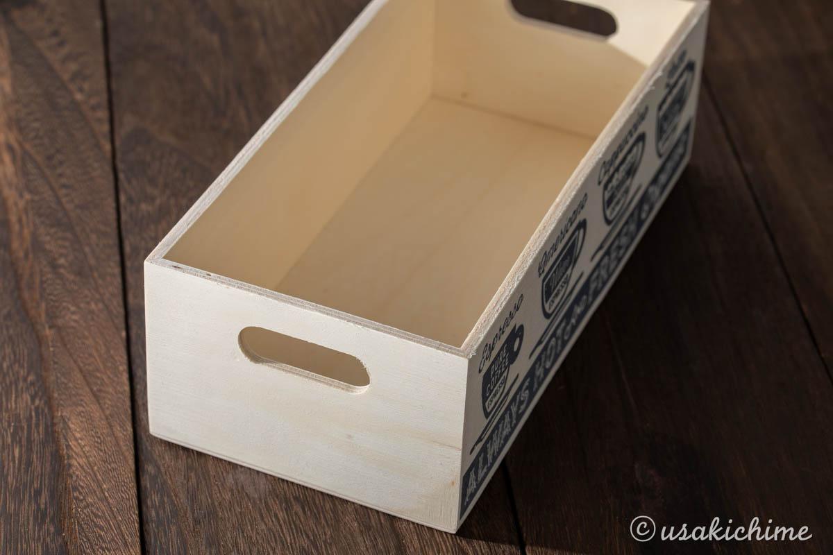 100円ショップワッツで購入したお花グッズ「木製BOX CG-861」