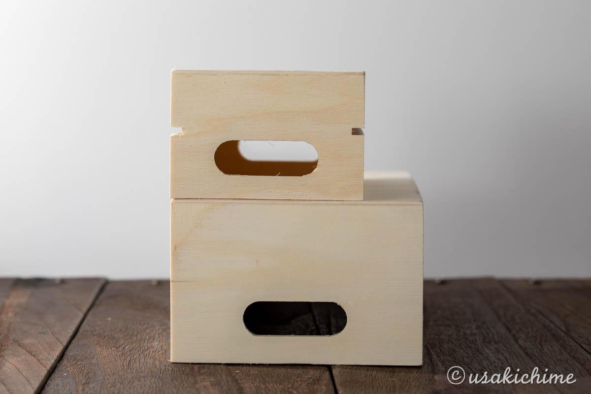 100円ショップワッツで購入したお花グッズ「木製BOX CG-863と861」